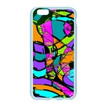 Abstract Sketch Art Squiggly Loops Multicolored Apple Seamless iPhone 6/6S Case (Color) Front
