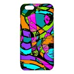 Abstract Sketch Art Squiggly Loops Multicolored iPhone 6/6S TPU Case Front