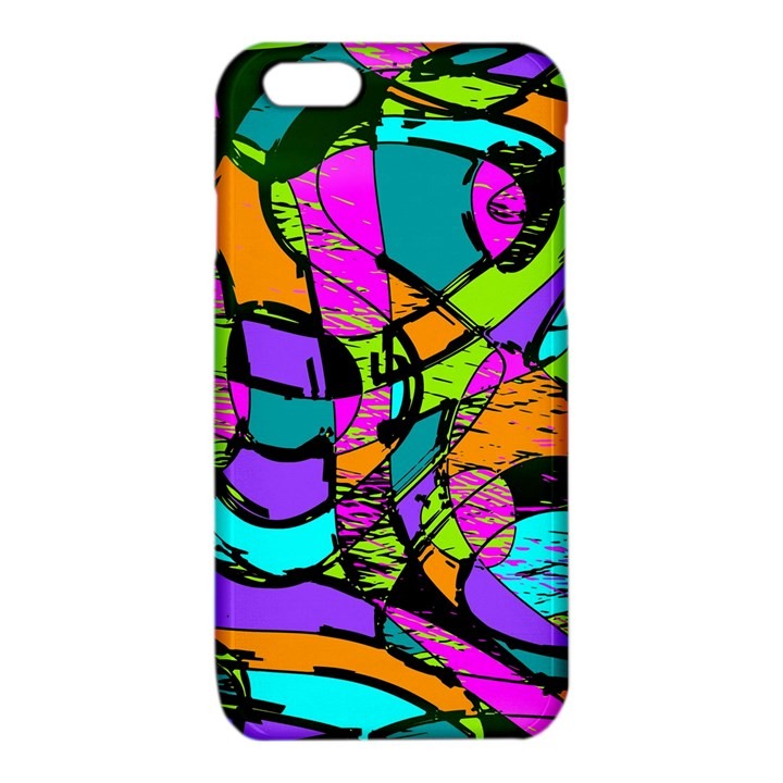 Abstract Sketch Art Squiggly Loops Multicolored iPhone 6/6S TPU Case