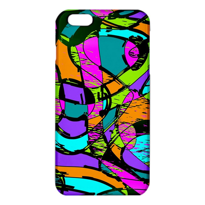 Abstract Sketch Art Squiggly Loops Multicolored iPhone 6 Plus/6S Plus TPU Case