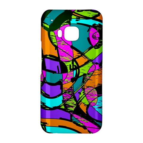 Abstract Sketch Art Squiggly Loops Multicolored HTC One M9 Hardshell Case