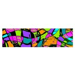 Abstract Sketch Art Squiggly Loops Multicolored Satin Scarf (Oblong) Front