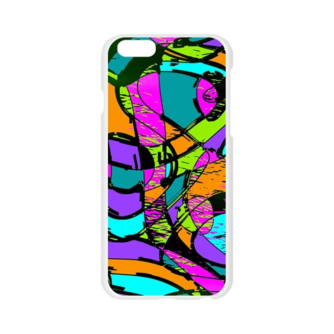 Abstract Sketch Art Squiggly Loops Multicolored Apple Seamless iPhone 6/6S Case (Transparent)