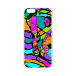 Abstract Sketch Art Squiggly Loops Multicolored Apple Seamless iPhone 6/6S Case (Transparent) Front