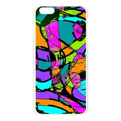 Abstract Sketch Art Squiggly Loops Multicolored Apple Seamless iPhone 6 Plus/6S Plus Case (Transparent)