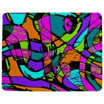 Abstract Sketch Art Squiggly Loops Multicolored Jigsaw Puzzle Photo Stand (Rectangular) Front