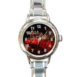 Clifton Mill Christmas Lights Round Italian Charm Watch Front