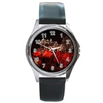 Clifton Mill Christmas Lights Round Metal Watch Front