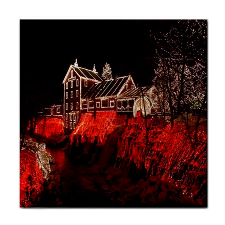 Clifton Mill Christmas Lights Tile Coasters