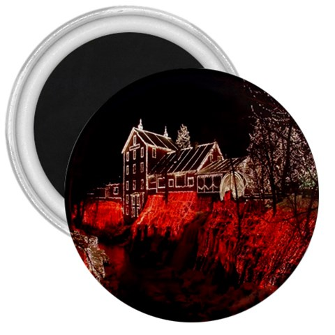 Clifton Mill Christmas Lights 3  Magnets