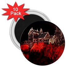Clifton Mill Christmas Lights 2.25  Magnets (10 pack)