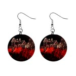 Clifton Mill Christmas Lights Mini Button Earrings Front