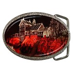 Clifton Mill Christmas Lights Belt Buckles Front