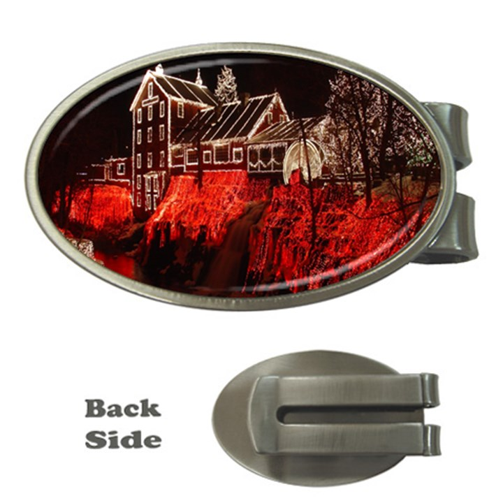 Clifton Mill Christmas Lights Money Clips (Oval)