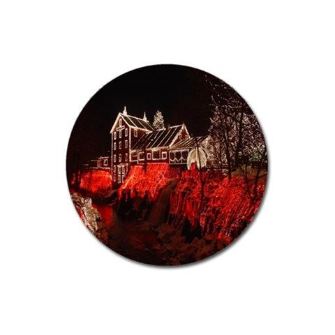 Clifton Mill Christmas Lights Magnet 3  (Round)