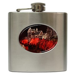 Clifton Mill Christmas Lights Hip Flask (6 oz)