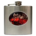 Clifton Mill Christmas Lights Hip Flask (6 oz) Front
