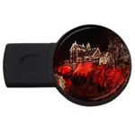Clifton Mill Christmas Lights USB Flash Drive Round (1 GB)  Front