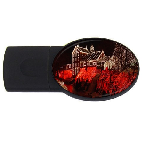 Clifton Mill Christmas Lights USB Flash Drive Oval (1 GB)