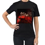 Clifton Mill Christmas Lights Women s T-Shirt (Black) (Two Sided) Front