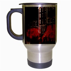 Clifton Mill Christmas Lights Travel Mug (Silver Gray)