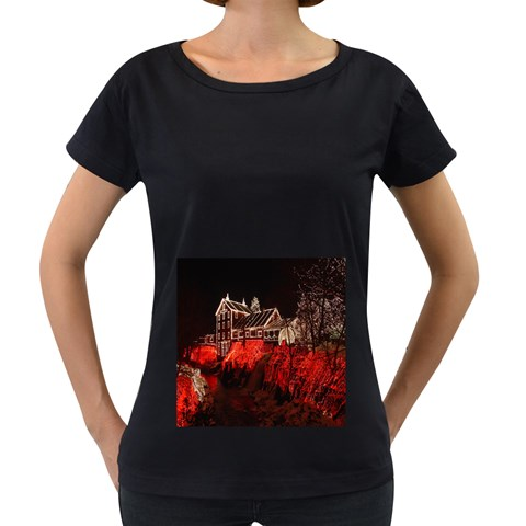 Clifton Mill Christmas Lights Women s Loose-Fit T-Shirt (Black)