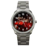 Clifton Mill Christmas Lights Sport Metal Watch Front