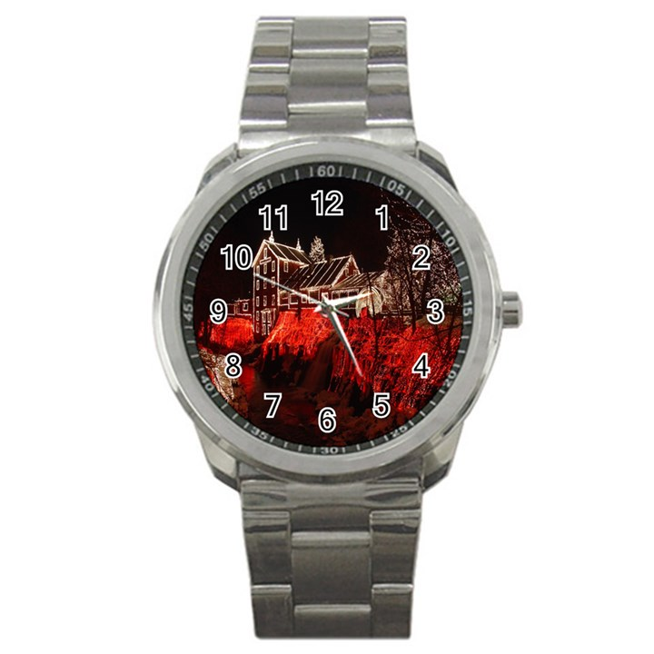 Clifton Mill Christmas Lights Sport Metal Watch