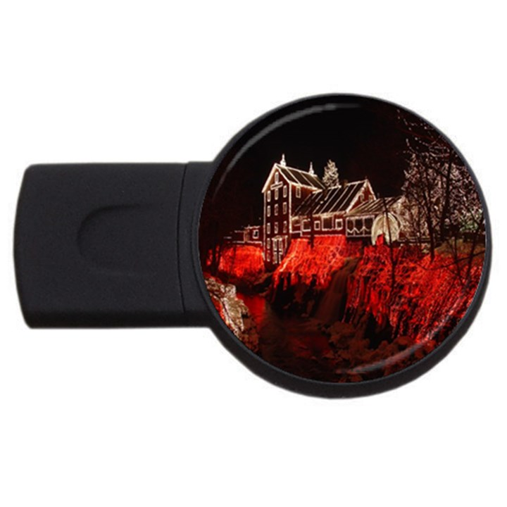 Clifton Mill Christmas Lights USB Flash Drive Round (4 GB)
