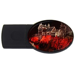 Clifton Mill Christmas Lights USB Flash Drive Oval (4 GB)
