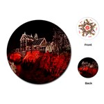 Clifton Mill Christmas Lights Playing Cards (Round)  Front