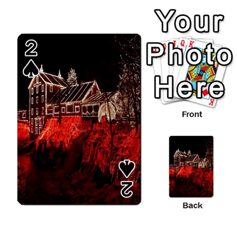 Clifton Mill Christmas Lights Playing Cards 54 Designs
