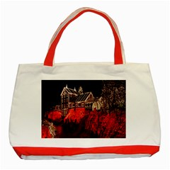 Clifton Mill Christmas Lights Classic Tote Bag (Red)