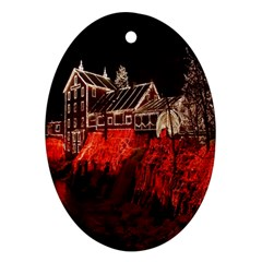 Clifton Mill Christmas Lights Oval Ornament (Two Sides)