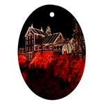 Clifton Mill Christmas Lights Oval Ornament (Two Sides) Back