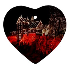 Clifton Mill Christmas Lights Heart Ornament (2 Sides)