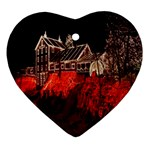 Clifton Mill Christmas Lights Heart Ornament (2 Sides) Front