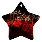 Clifton Mill Christmas Lights Star Ornament (Two Sides)  Back
