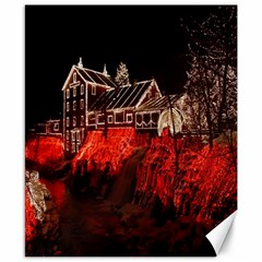 Clifton Mill Christmas Lights Canvas 8  x 10