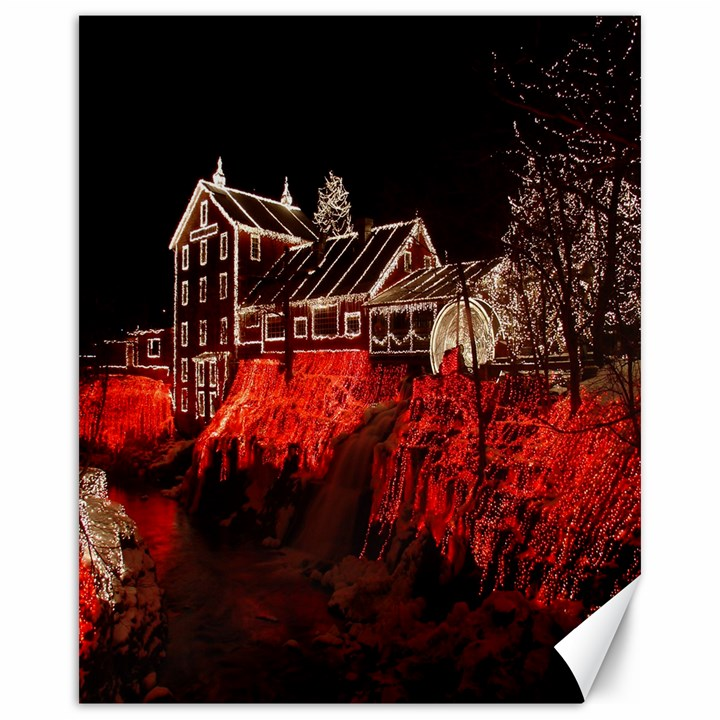 Clifton Mill Christmas Lights Canvas 16  x 20