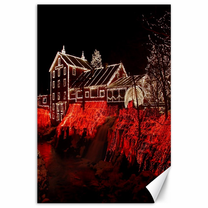 Clifton Mill Christmas Lights Canvas 24  x 36