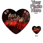 Clifton Mill Christmas Lights Playing Cards 54 (Heart)  Front - Heart6