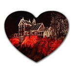 Clifton Mill Christmas Lights Heart Mousepads Front