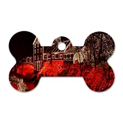 Clifton Mill Christmas Lights Dog Tag Bone (Two Sides)