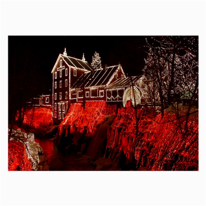 Clifton Mill Christmas Lights Large Glasses Cloth
