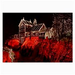 Clifton Mill Christmas Lights Large Glasses Cloth (2-Side) Front