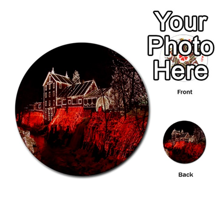 Clifton Mill Christmas Lights Multi-purpose Cards (Round)