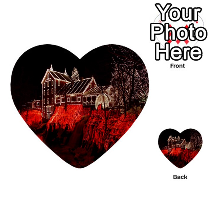 Clifton Mill Christmas Lights Multi-purpose Cards (Heart)