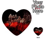 Clifton Mill Christmas Lights Multi-purpose Cards (Heart)  Back 36