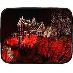 Clifton Mill Christmas Lights Double Sided Fleece Blanket (Mini)